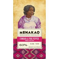 63 %  chocolat noir au Combava et baie rose 75gr {attributes}